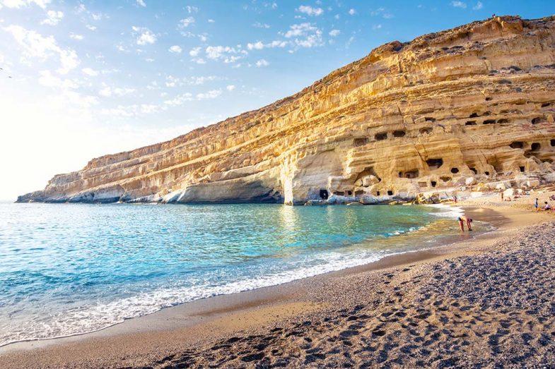 Dormir en Crète à Matala, dans le sud de l'île