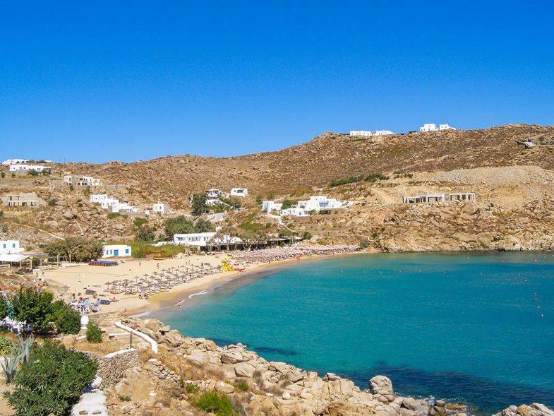 Beach paradise/ Superparadise Beach un site idéal pour dormir à Mykonos