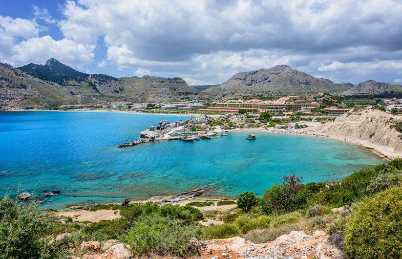 Kolymbia, ville populaire où loger à Rhodes