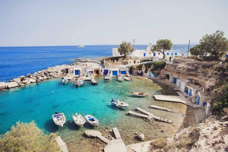 Mandrakia, où dormir à Milos pour la calme, le soleil et la détente