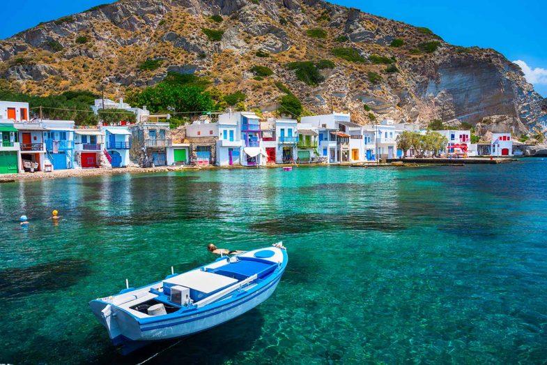 Klima, où dormir à Milos avec un paysage de carte postale
