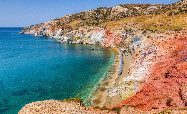 Paliochori, l'une des plus belles plages de Milos